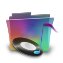 folder,rainbow,music icon