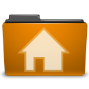 orange,user,home icon