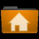 profile, homepage, folder, user, building, house, account, human, home, orange, people icon