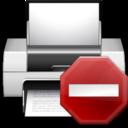 Status printer error icon