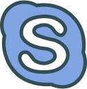 brand, social, skype, network, logo icon