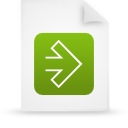 file, document, green, paper icon