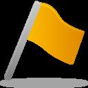 Flag yellow icon