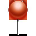 pin, push icon