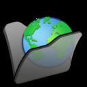 Folder black internet icon