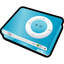 blue, shuffle, ipod icon