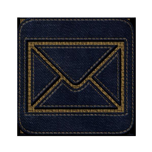 email, square, letter, jean, mail, message, social, envelop, denim icon