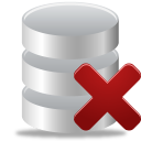 database, remove, from icon
