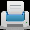 printer, blue icon