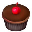 cake, cherry, food, chocolate icon