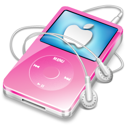 video, apple, ipod, pink icon