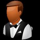 male, dark, waiter icon