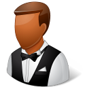 Occupations Waiter Male Dark icon