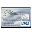visa, platinum icon