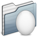 Egg, Folder, Graphite icon