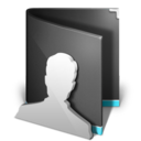 user,folder,black icon