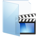 blue, video icon
