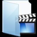 blue, video icon