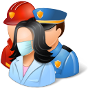 rescuers, group icon