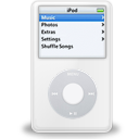 ipod, white, video icon