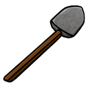 stone, shovel icon