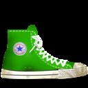 converse,green,dirty icon