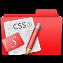 web design, css, edit, folder, red icon