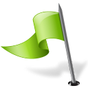 left, chartreuse, mapmarker, flag icon