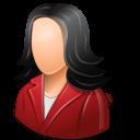 Office Customer Female Light icon
