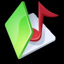 folder,music,green icon