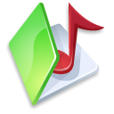 green, folder, music icon