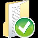 folder full accept icon