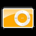 ipod, shuffle, orange, 2g icon