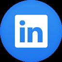 Circle, Flat, Linkedin icon