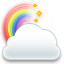 cloud rainbow icon
