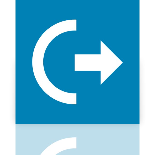 off, power, log, mirror icon