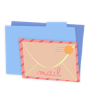 Blue, Folder, Mail icon