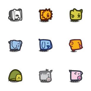 Zootetragonoides icon sets preview