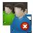 profile, people, forum, two, remove, account, human, delete, del, user icon