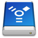 drive,blue,firewire icon