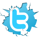 twitter, cracked twitter, blue icon