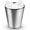 full, trash, recycle bin icon