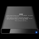 [Black], Bsod, Disk, External icon