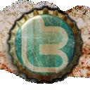 twitter, beer cap icon