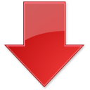 arrow, up, red icon