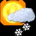 light, snow, sun icon