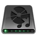aduio, disk, disc, dvd, cd, dark, drive icon