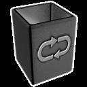 invert, recycle, empty, bin, blank icon