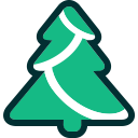 tree, christmas, evergreen, xmas, winter, christmas tree icon
