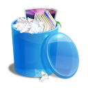 blue, recycle, bin icon